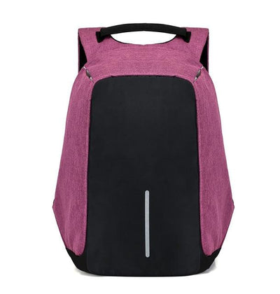 Anti Theft Backpack - Purple