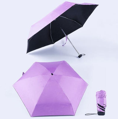 Anti-UV Waterproof Mini Umbrella - Purple