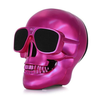 Skull Wireless Bluetooth MP3 Portable Speaker - Red