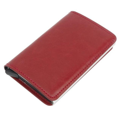 Antitheft Tactical Leather Wallet - red