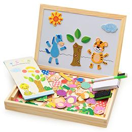 Magnetic Drawing & Puzzle Educational Board - Jungle