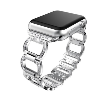 38mm/42mm  Rhinestone Diamond Apple Watch Band - silver / 38mm