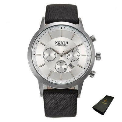 Sports Quartz Wristwatch - Silver + Box