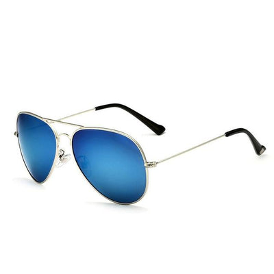 Unisex Polarized Sunglasses - Silver Blue