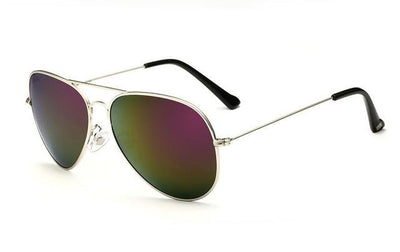 Unisex Polarized Sunglasses - Silver Purple