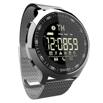 Sports Bluetooth Digital Watch - Silver