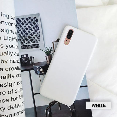Silicone Huawei Flip Case - White / Honor 9 lite