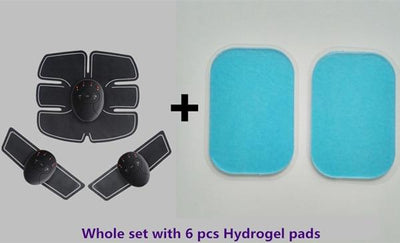 Abdominal Muscle Stimulation - Full Set + 6 PCs hydrogel Pads
