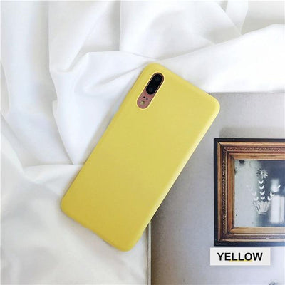 Silicone Huawei Flip Case - Yellow / Honor 9 lite