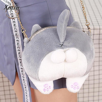 Fluffy Cat Butt Bag -