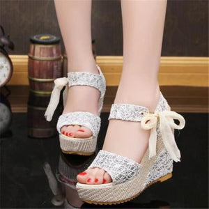 Women High Heel Wedge Sandals