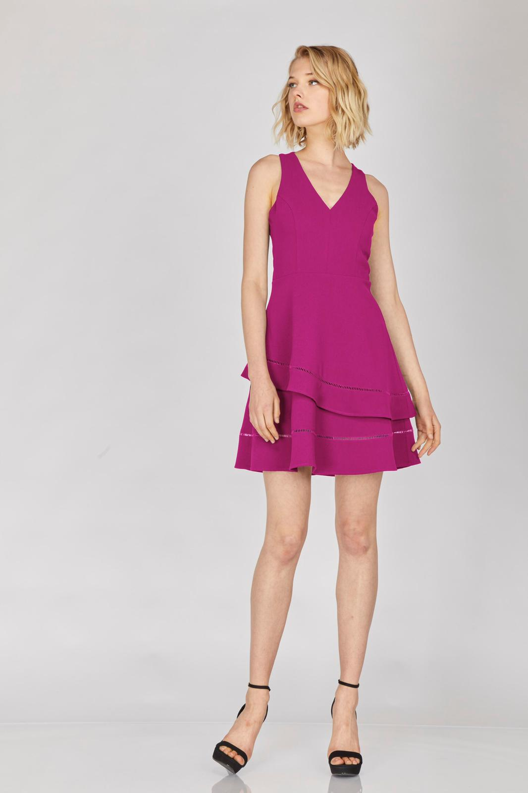 Rose V Neck Adelyne Dress