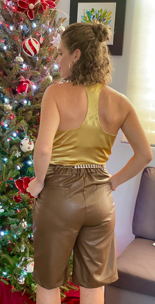 Satin Christmas blouse