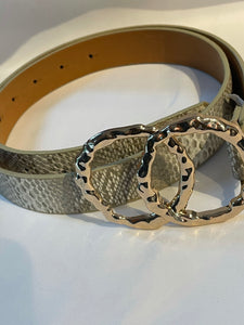 Snake print taupe fashion belt
