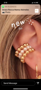 Janice Triple pearl golf ear cuff