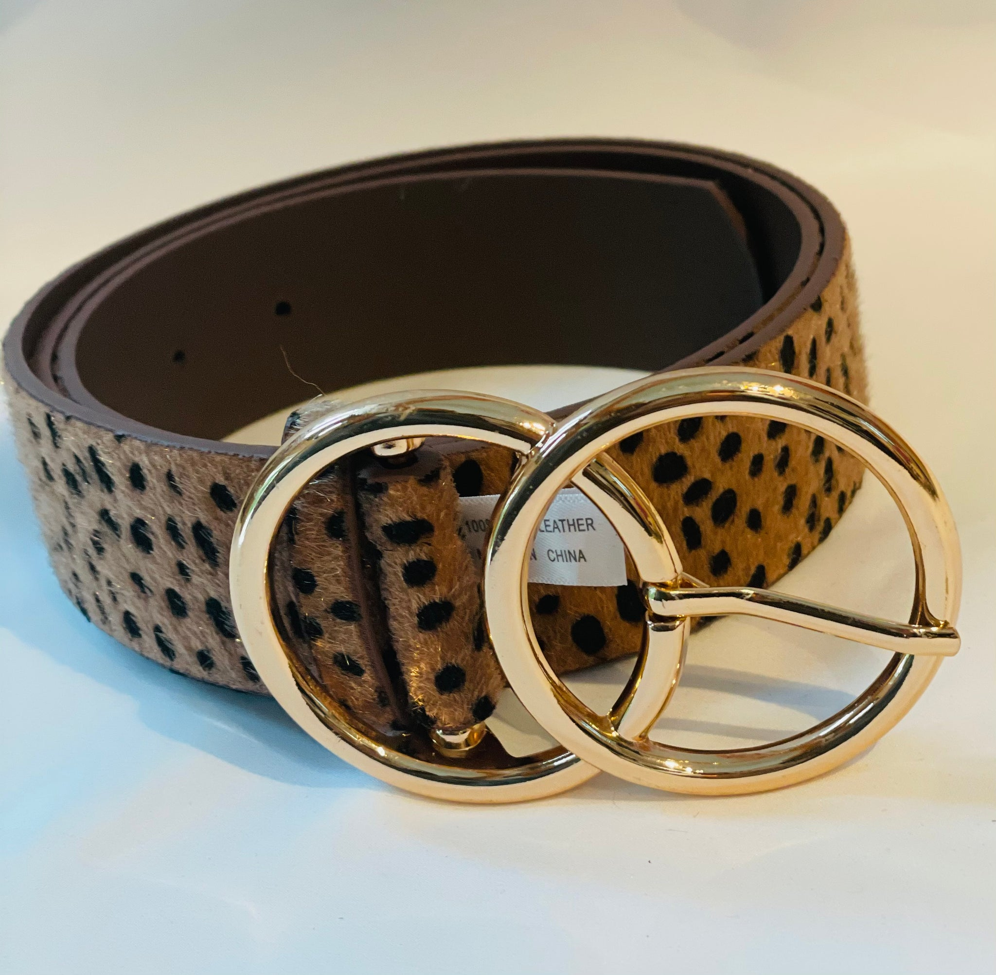 Animal print leopard fashion belt