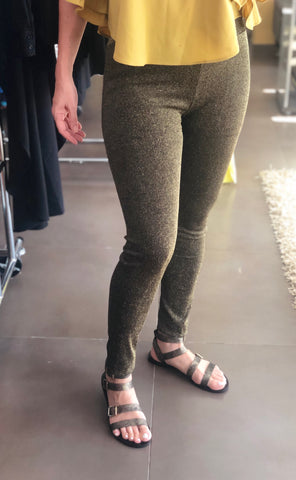 Gold sparkle leggins