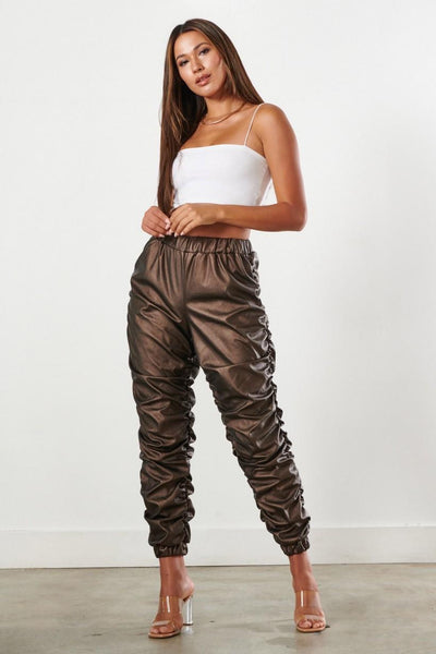 Leather Bronce Hanging pants