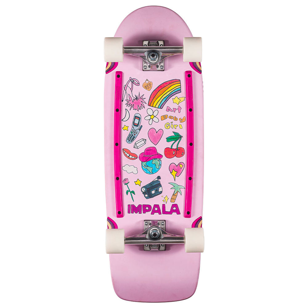 Impala Latis Cruiserboard in Art Baby Girl colorway