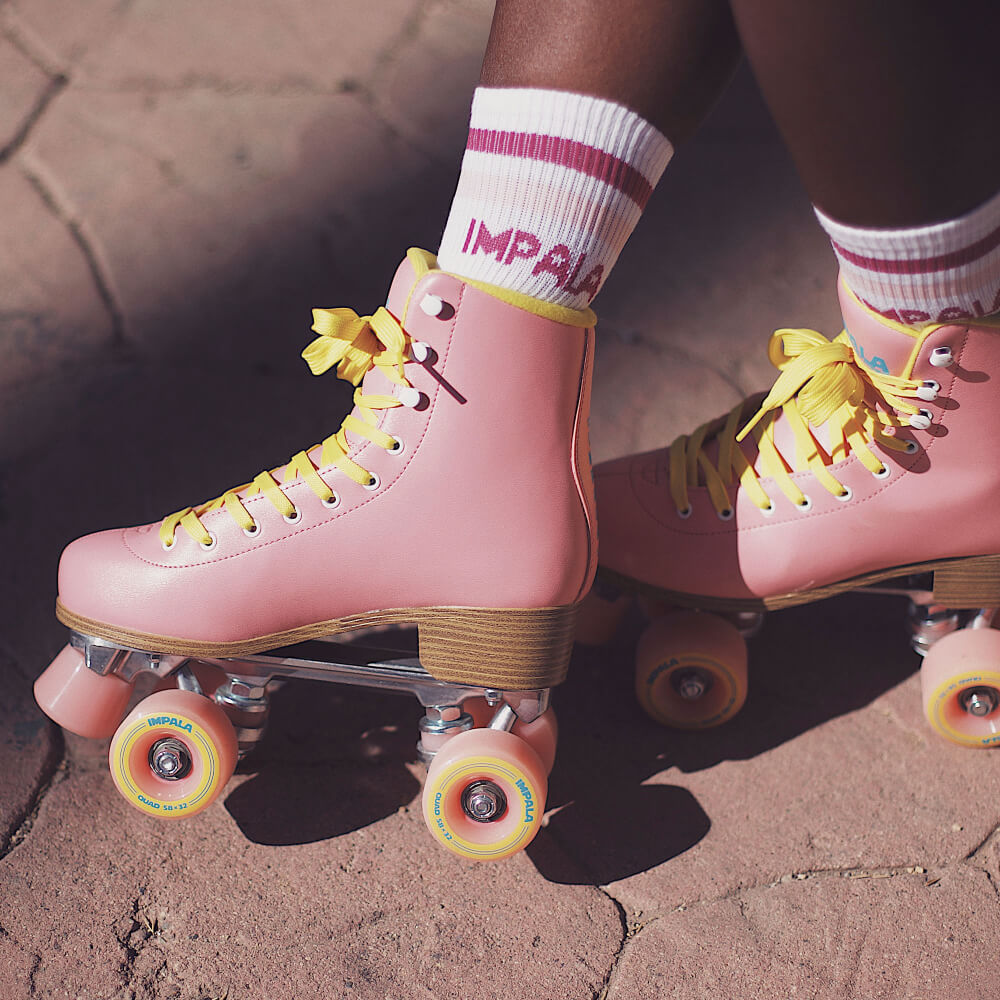 Impala Roller Skates in Pink/Yellow