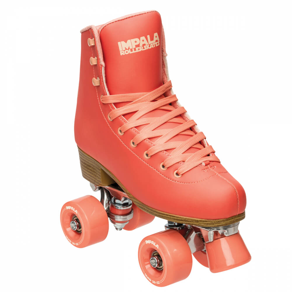 Impala Roller Skates in Living Coral