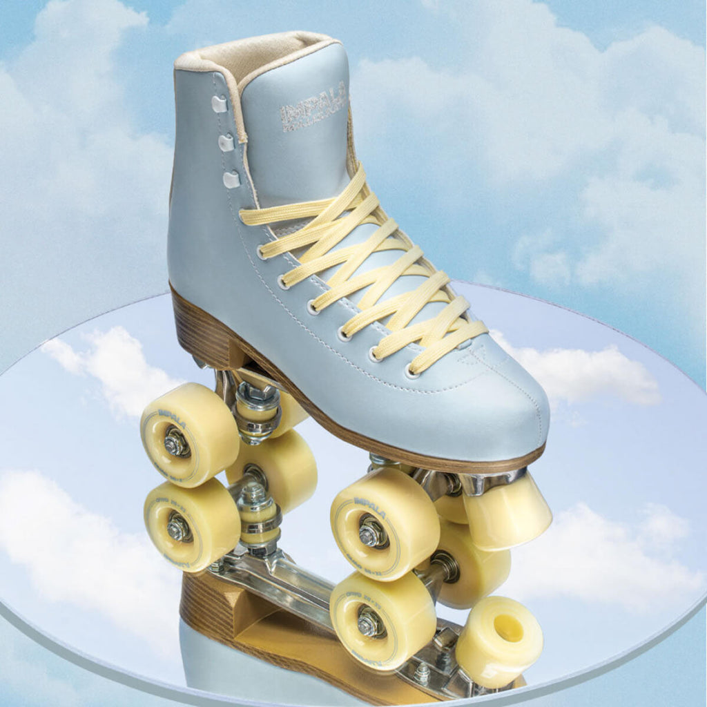 Impala Roller Skates in Sky Blue/Yellow