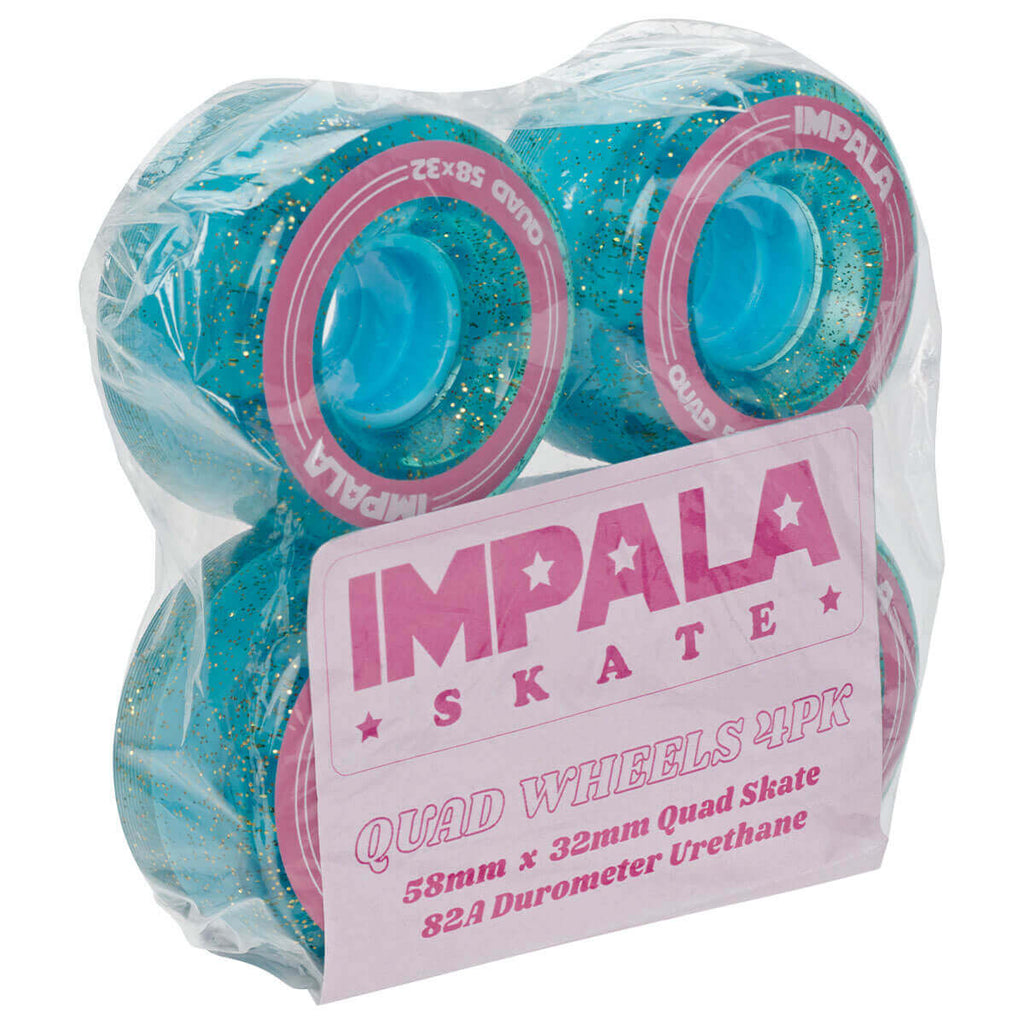 Impala Quad Wheels 4 PACK WHEELS - HOLOGRAPHIC GLITTER in Holographic Glitter