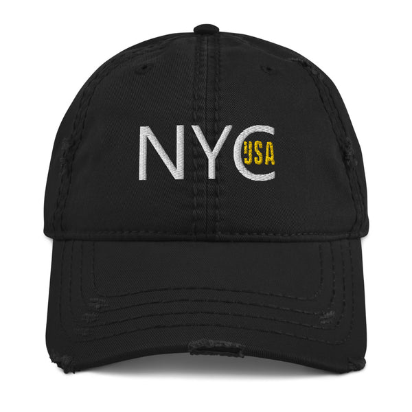 NYC USA Distressed Dad Hat