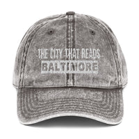 Baltimore, The City That Reads Vintage Cotton Twill Cap