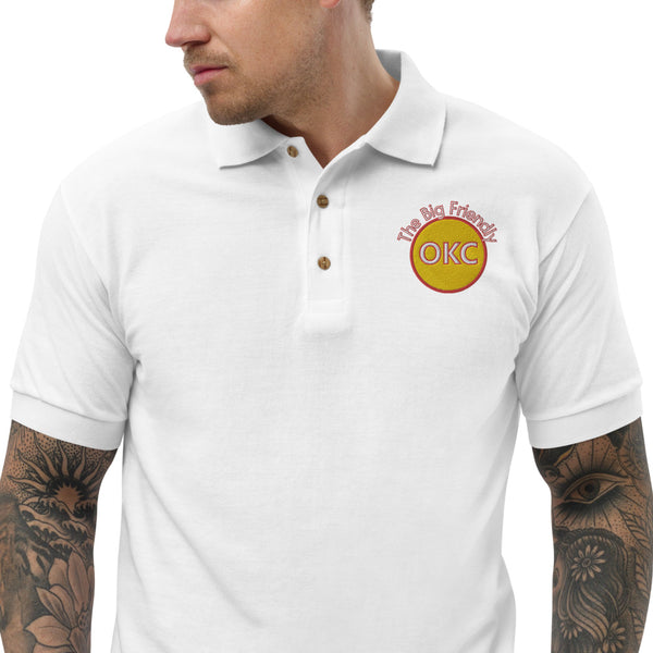 The Big Friendly Yellow Embroidered Polo Shirt