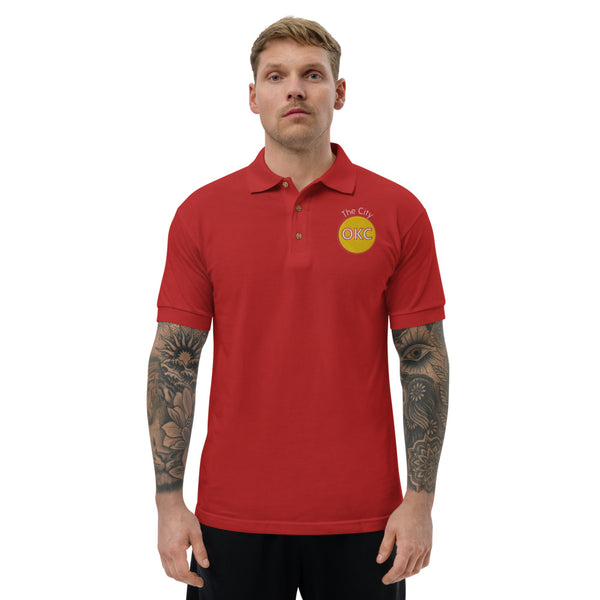 The City Yellow Embroidered Polo Shirt