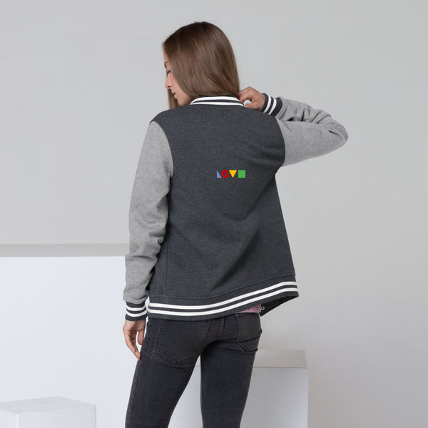 Minimalist Love Women's Letterman Jacket