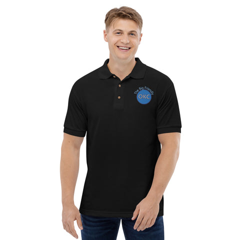 The Big Friendly Blue Embroidered Polo Shirt