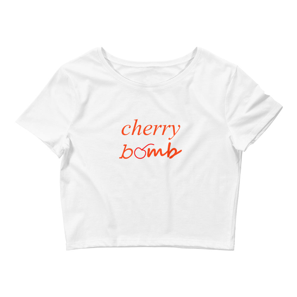 Cherry Bomb Women's Crop Tee