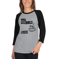Keep Portland Weird 3/4 sleeve raglan shirt