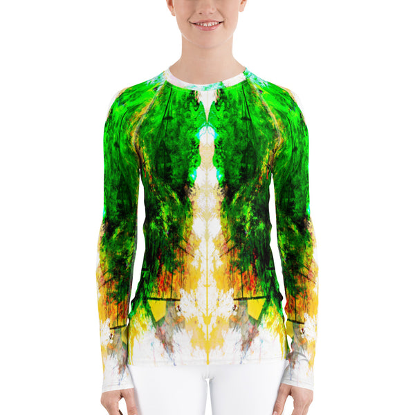 Accumulated Jade Women's Rash Guard