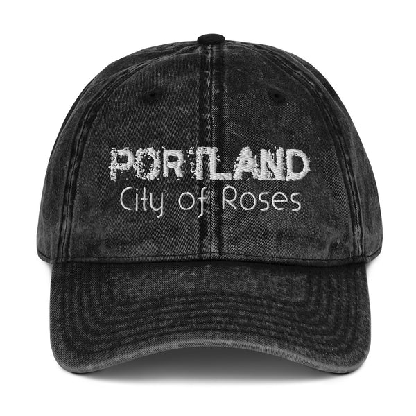 Portland, City of Roses Vintage Cotton Twill Cap