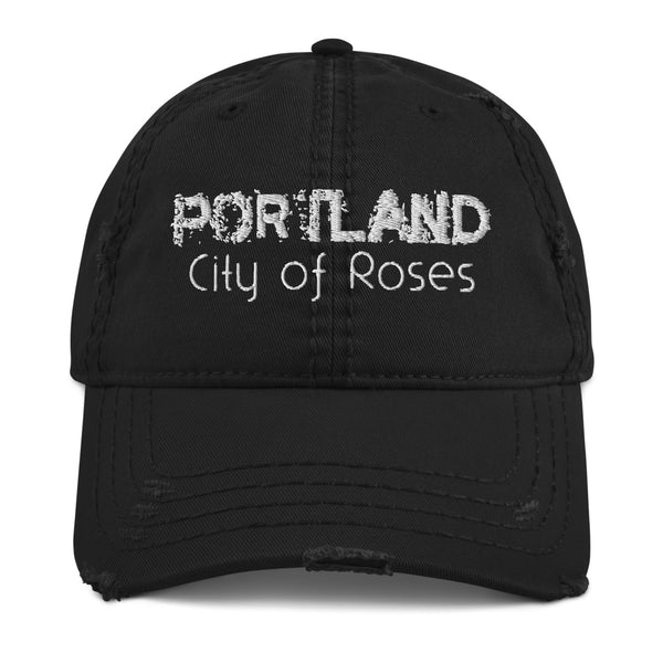 Portland, City of Roses Distressed Dad Hat