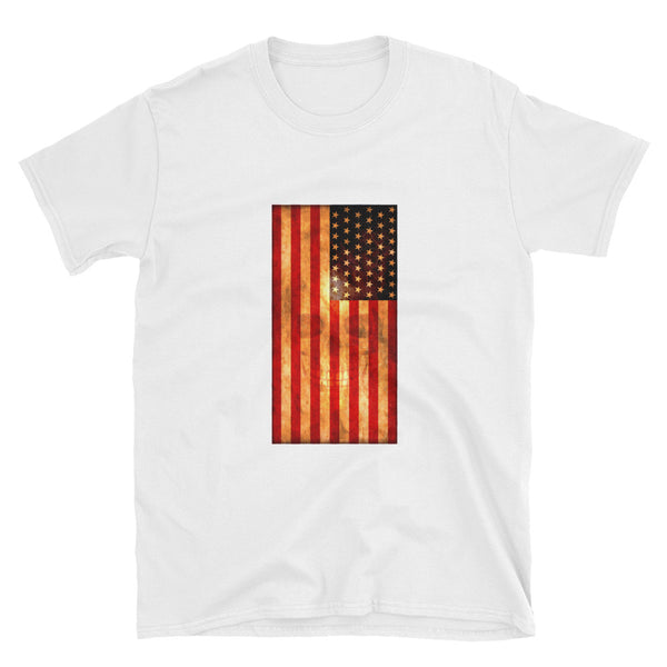 American Flag with Skull Short-Sleeve Unisex T-Shirt