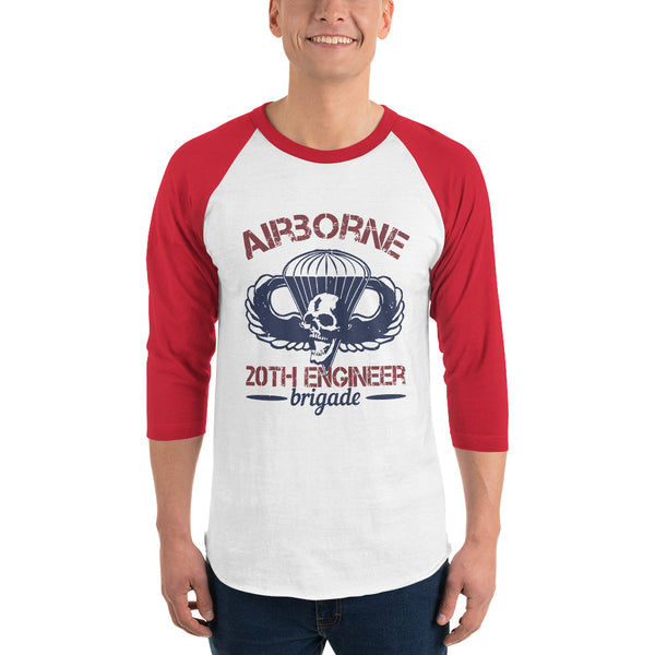 Airborne 20th Engineer Brigade 3/4 sleeve raglan shirt