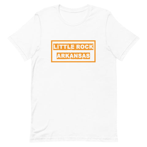 Little Rock, Arkansas, Orange Logo Short-Sleeve Unisex T-Shirt