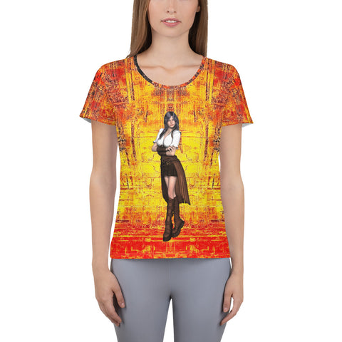 Infidel Pose  Women's Athletic T-shirt