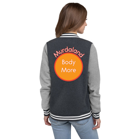 Bodymore, Murdaland Orange Women's Letterman Jacket