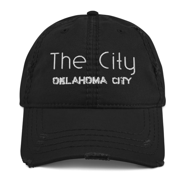 The City Distressed Dad Hat
