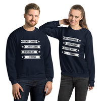 Friends change, lovers leave, sisters are eternal Unisex Sweatshirt