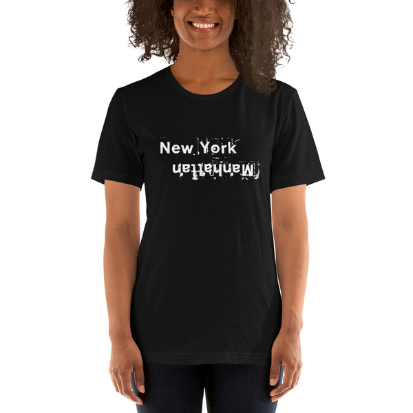 Upside Down Manhattan 1  Light Theme Short-Sleeve Unisex T-Shirt