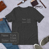 New York City Staten Island 1 Light Theme Short-Sleeve Unisex T-Shirt