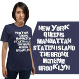 Harlem NYC Boroughs Light Theme Short-Sleeve Unisex T-Shirt