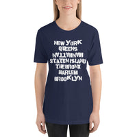 Manhattan NYC Boroughs Light Theme Short-Sleeve Unisex T-Shirt