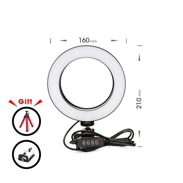 Awesome LED Ring Light For Any Type of Phone and Camera